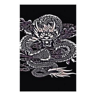 Papeterie Blanc épique de dragon