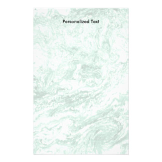 Papeterie Blanc vert abstrait marbré de la conception |