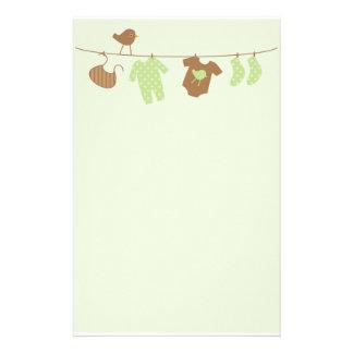 Papeterie Blanchisserie de bébé (vert)