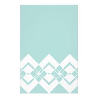 Papeterie Bleu abstrait et blanc géométriques
