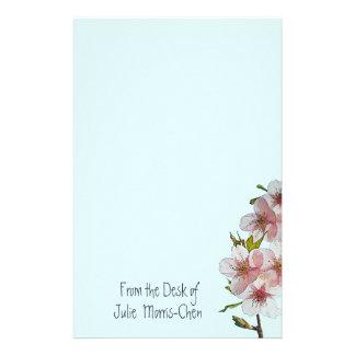 Papeterie Bleu de fleurs de cerisier