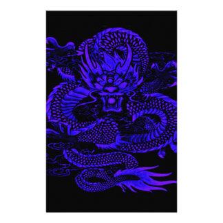 Papeterie Bleu épique de dragon