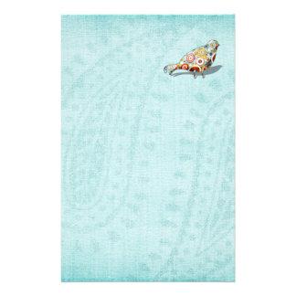 Papeterie Bleu mignon de petit oiseau lunatique drôle