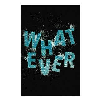 Papeterie Bleu turquoise quoi que