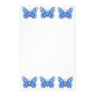 Papeterie bleue de papillon