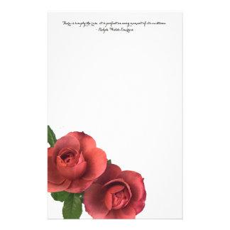 Papeterie Bloc-notes de roses avec la citation de Ralph