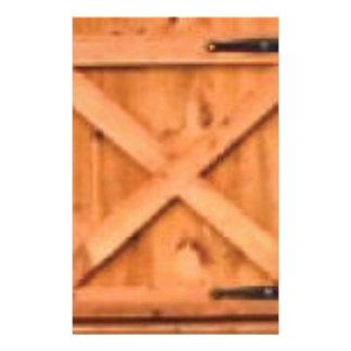 Papeterie bois de porte de grange