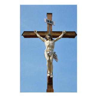 Papeterie bois Jésus croisé
