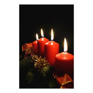 Papeterie Bougies d'avènement de Noël