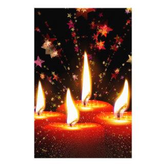 Papeterie bougies de lumières de Noël