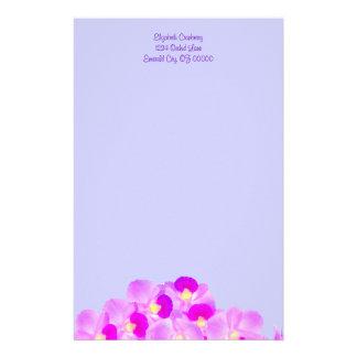 Papeterie Bouquet rose d'orchidée