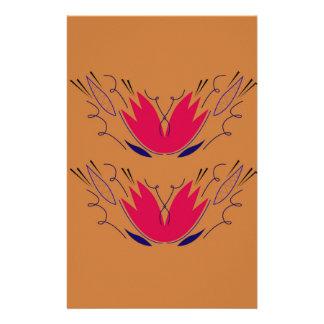 Papeterie Brun de rose de mandalas d'Ethno
