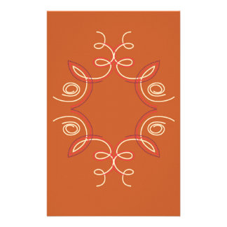Papeterie Brun d'Eco de mandala de conception