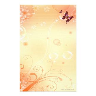 Papeterie Butterflys et bulles stationnaires