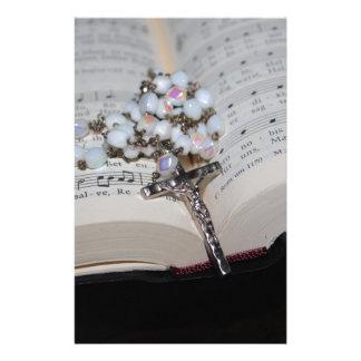 Papeterie cahier de musique de chapelet