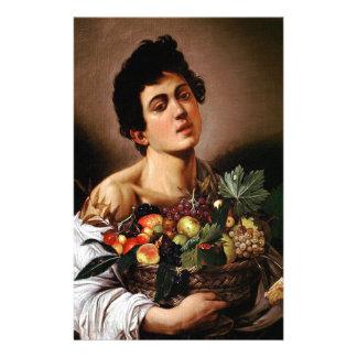 Papeterie Caravaggio - garçon avec un panier d'illustration