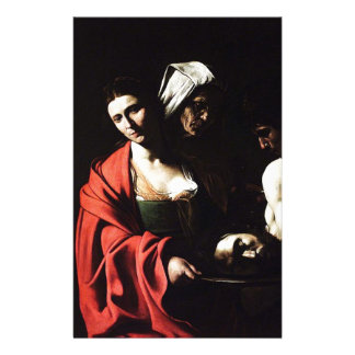 Papeterie Caravaggio - Salome - illustration baroque