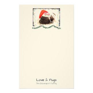 Papeterie Carlin de Noël dans le casquette de Père Noël avec