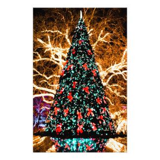 Papeterie célébration d'arbre et de lumière de Noël