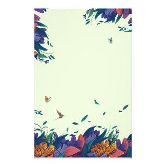 Papeterie Champ d'imaginaire avec des papillons et un