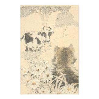 Papeterie Chaton et la vache