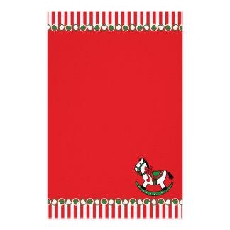 Papeterie Cheval de basculage de Noël