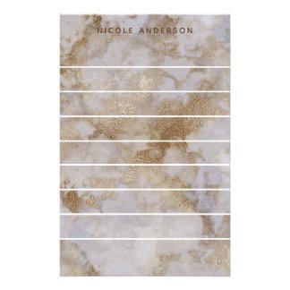 Papeterie Chic personnalisé à la mode de remous de marbre
