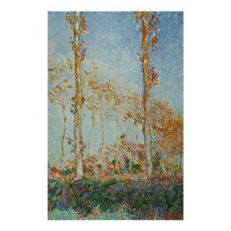 Papeterie Claude Monet - l'illustration de peupliers
