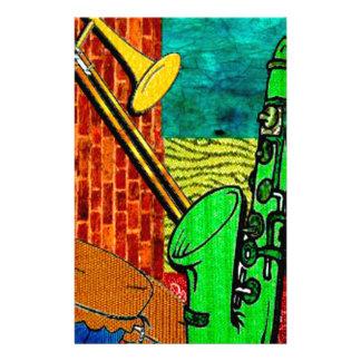 Papeterie Collage terreux de jazz