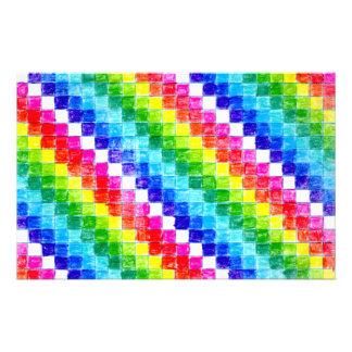 Papeterie Coloré dans des carrés de papier de graphique