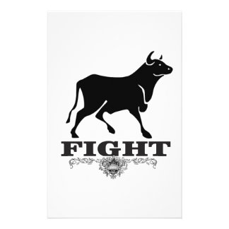Papeterie combat de taureau noir