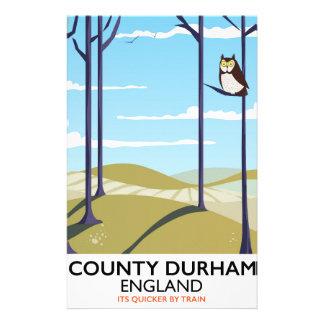 Papeterie Comté affiche de train de Durham, Angleterre