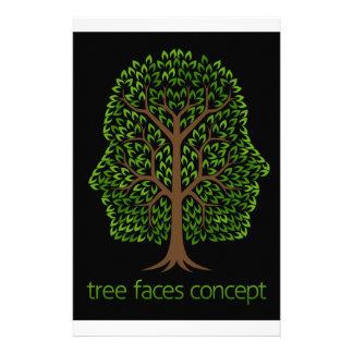 Papeterie Concept d'arbre de visages