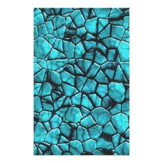 Papeterie Conception en pierre de marbre bleue fraîche de