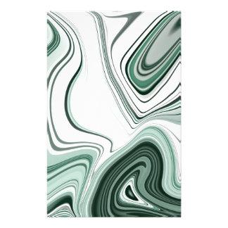 Papeterie Conception verte audacieuse d'effet de pierre