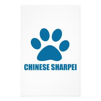 PAPETERIE CONCEPTIONS CHINOISES DE CHIEN DE SHARPEI