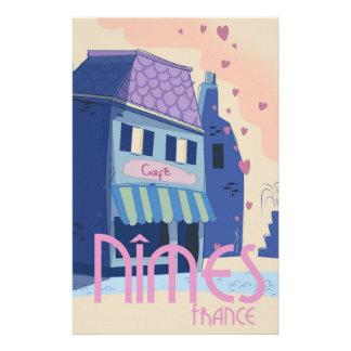 Papeterie Copie d'affiche de voyage de Nîmes France