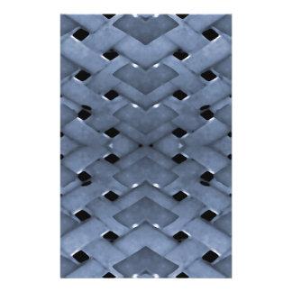 Papeterie Copie futuriste de conception de motif de grille