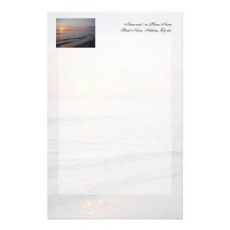 Papeterie Côte de vagues de plage de coucher du soleil,