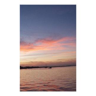Papeterie Coucher du soleil au-dessus de baie de la Floride,