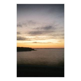 Papeterie Coucher du soleil de Texoma de lac