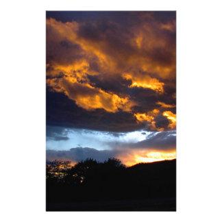 Papeterie Coucher du soleil du Montana