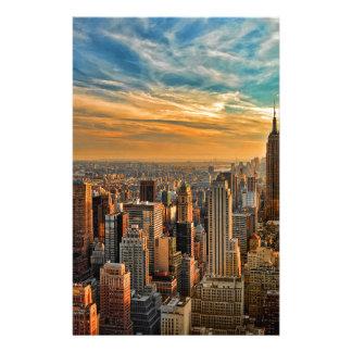 Papeterie Coucher du soleil magnifique à Manhattan, New York