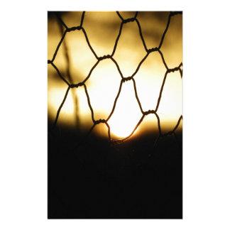 Papeterie Coucher du soleil par la barrière