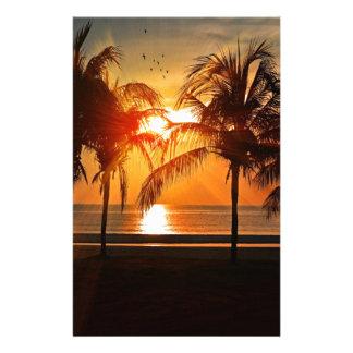 Papeterie Coucher du soleil tropical