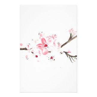 Papeterie Couleur pour aquarelle de fleurs de cerisier