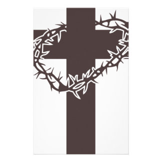 Papeterie couronne du Christ des épines croisée