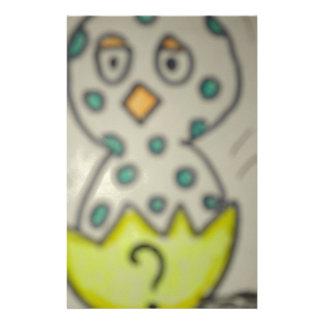 Papeterie coussin bleu du poussin coquille