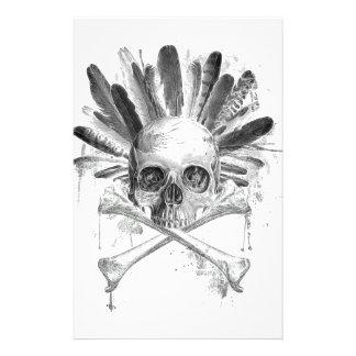 Papeterie Crâne gothique de style tribal - la croix désosse