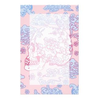 Papeterie Crâne rose de fleur
